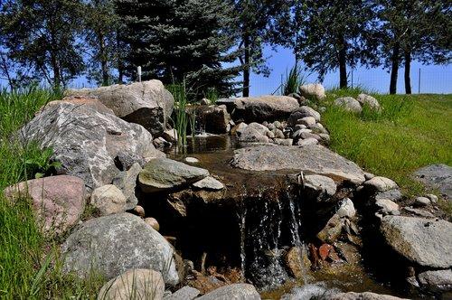 waterfall  the brook  stream