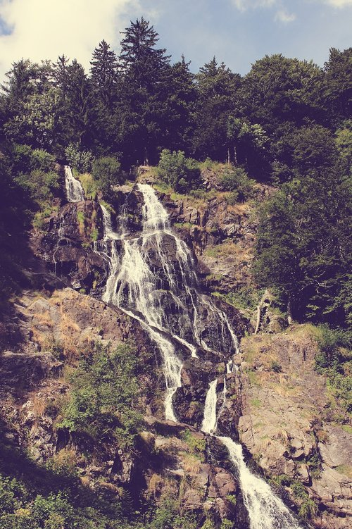 waterfall  nature  water