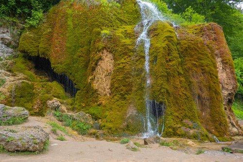 waterfall  moss  landscape