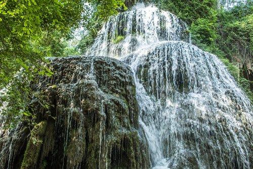 waterfall  water  landscape