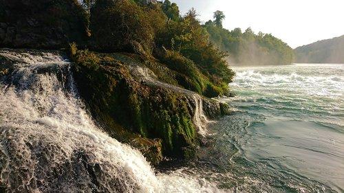 waterfall  river  rhine