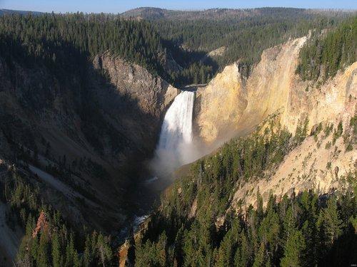 waterfall  lower yellowstone falls  national park