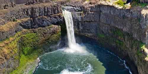 waterfall  canyon  landscape