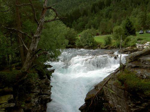waterfall water cascade