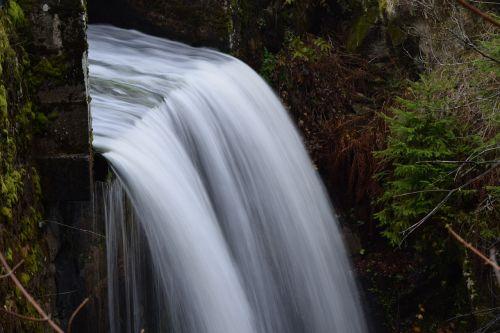 waterfall channel autumn