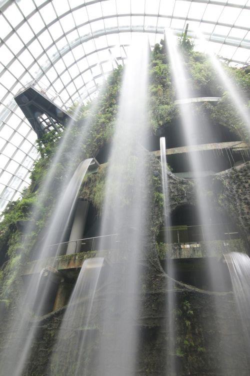 waterfall landscape water