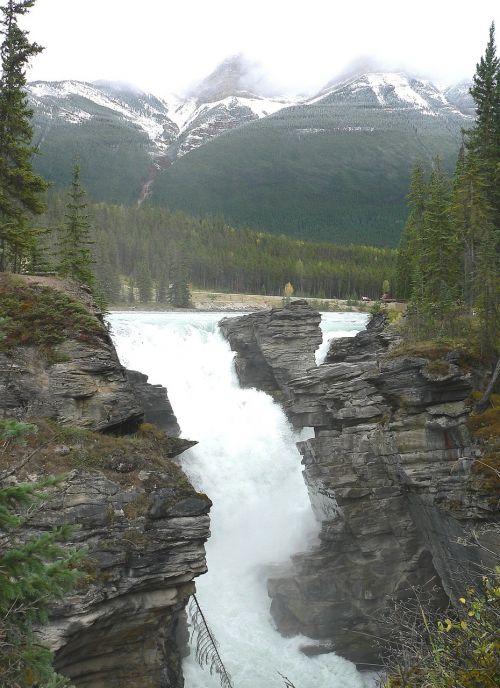 waterfall rocks falling