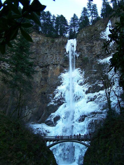 waterfall frozen waterfall winter
