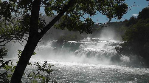 waterfall cascade nature