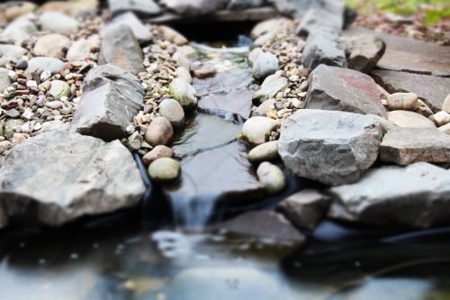 waterfall pond stones
