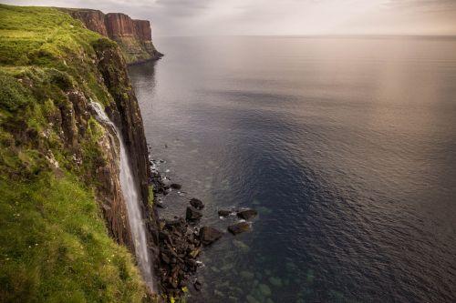 isle of skye waterfall sea
