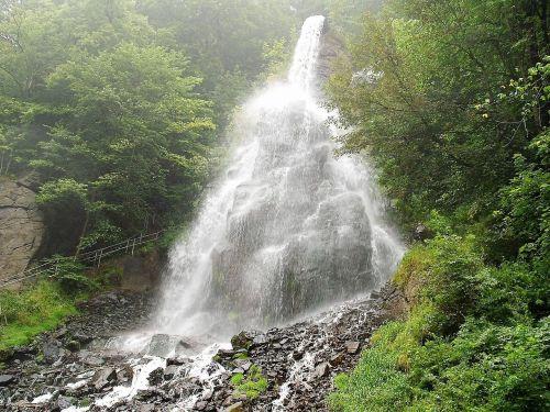 waterfall water running water