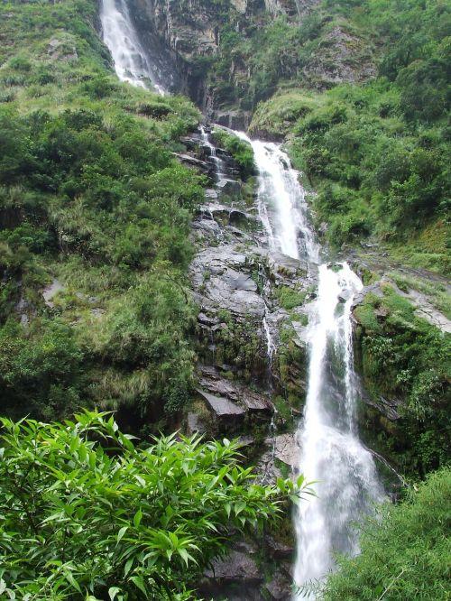 waterfall green nature