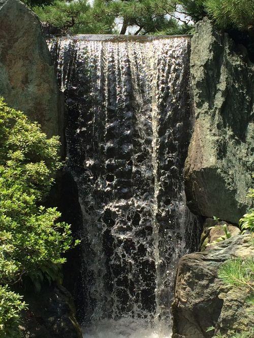 chicago botanic gardens waterfall small waterfall garden