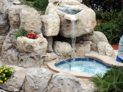 Waterfall Hot Tub