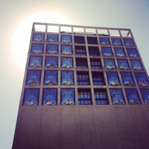 waterfront silo hotel windows