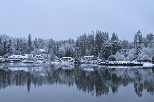 waterfront  winter  snow