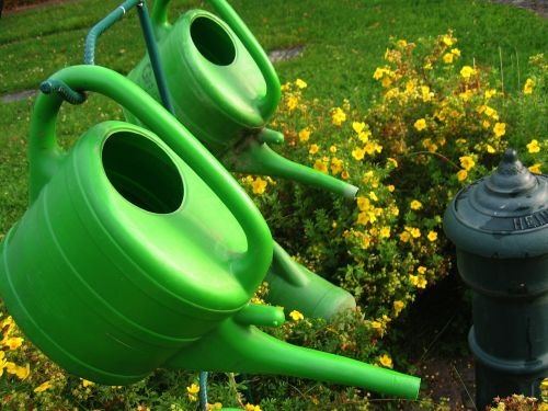 watering can stand cemetery