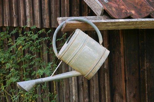 watering can  metal  gardening