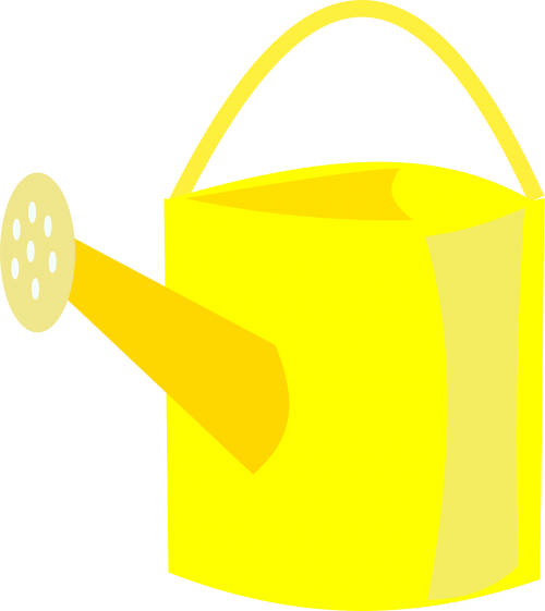 watering can yellow ewer
