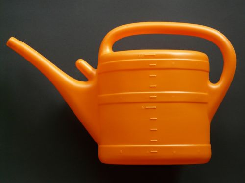 watering can casting orange
