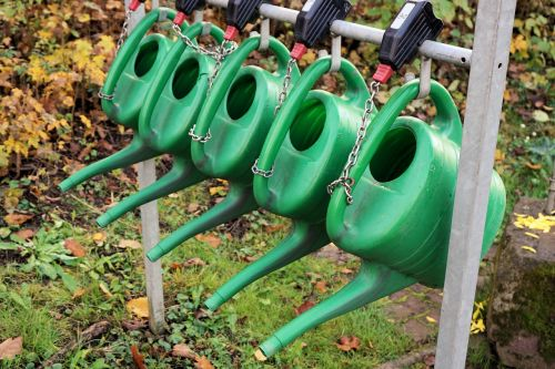 watering cans casting irrigation