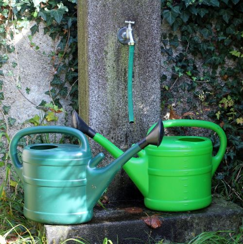 watering cans watering hole water