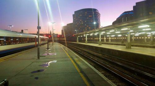 Waterloo Station At Dusk