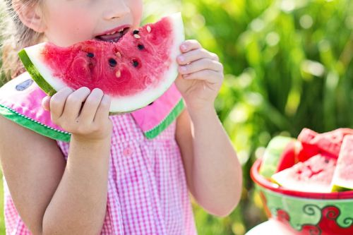 watermelon summer little girl eating watermelon