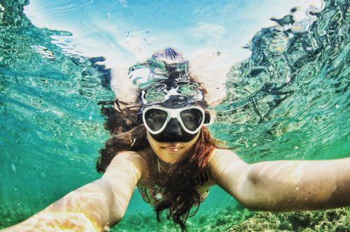waters underwater swim