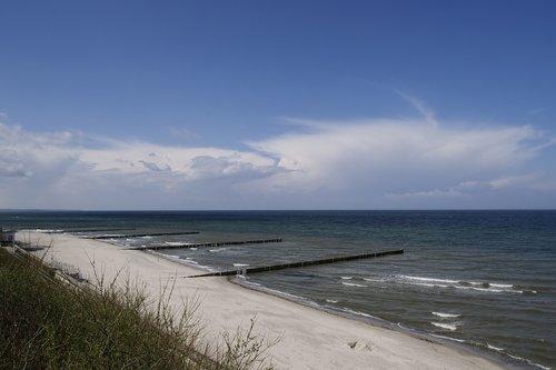 waters  beach buhne  groyne