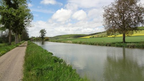 waterway,channel,burgundy,france