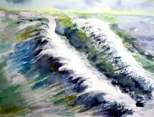 wave painting image