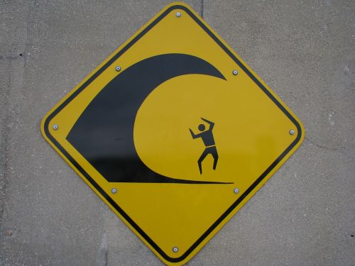 wave sign warning