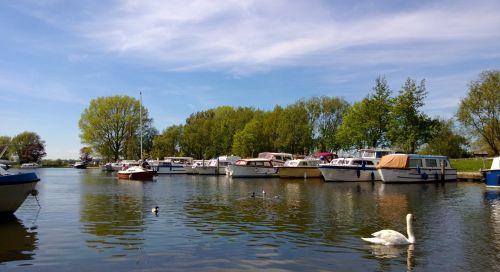 Waveney Quay Boats And Swan
