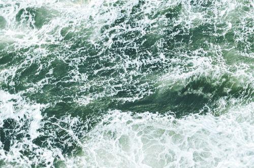 waves aerial view ocean