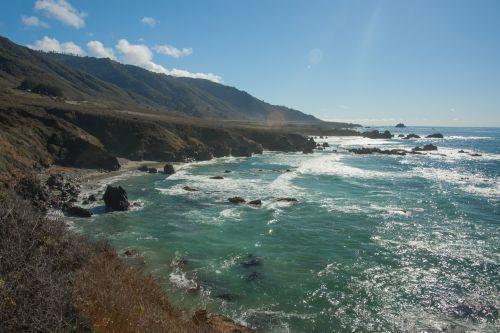 Waves On California Coast