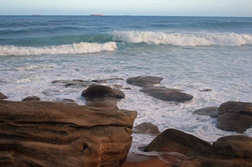 Waves Rolling Towards The Shore