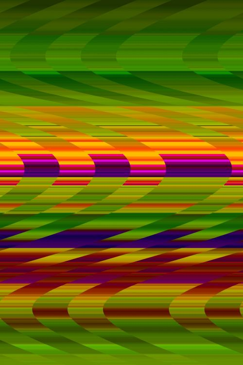 Wavy Bands Of Colour