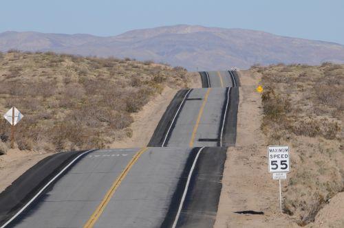 Wavy Desert Highway