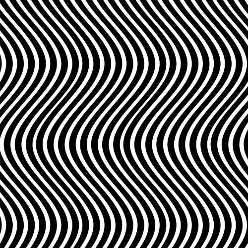 Wavy Lines Black White