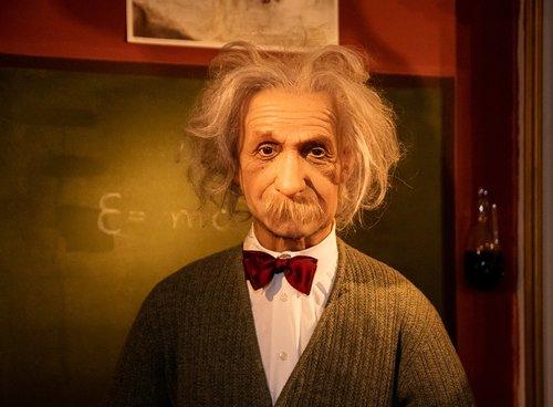 wax figure  albert einstein  physicist