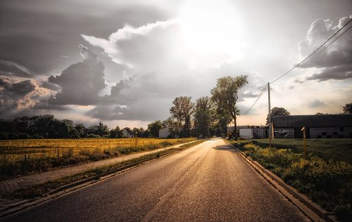 way  street  asphalt