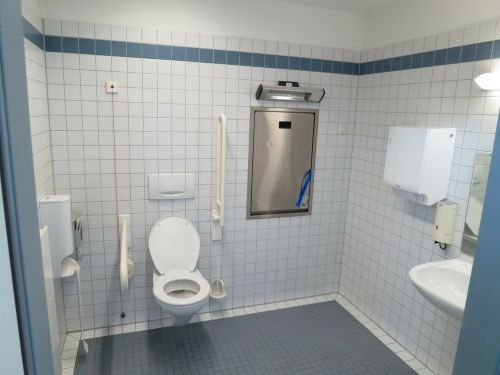 wc barrier free toilet disabled