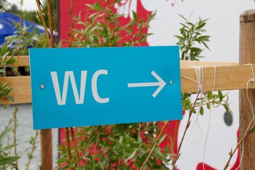 wc wc sign arrow