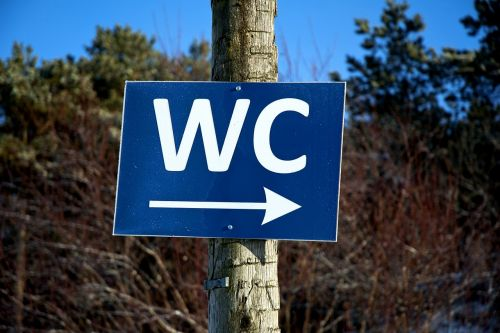wc sign toilet