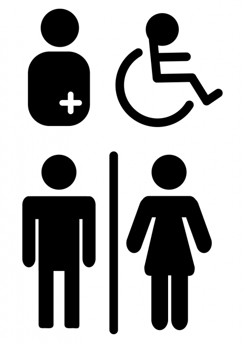 wc mark toilet people with disabilities