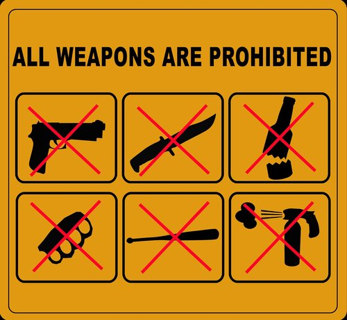 weapons ban  weapons  prohibited