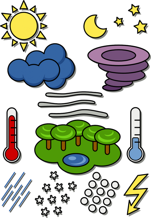 weather symbols temperature