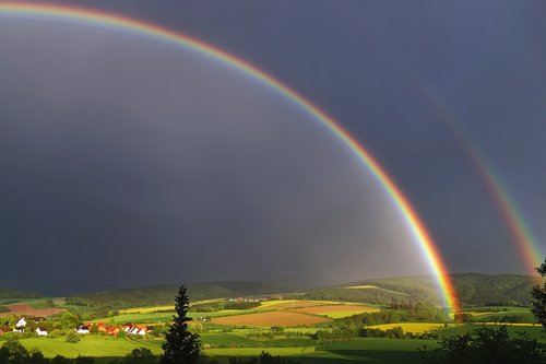 weather photography  rainbow  nature
